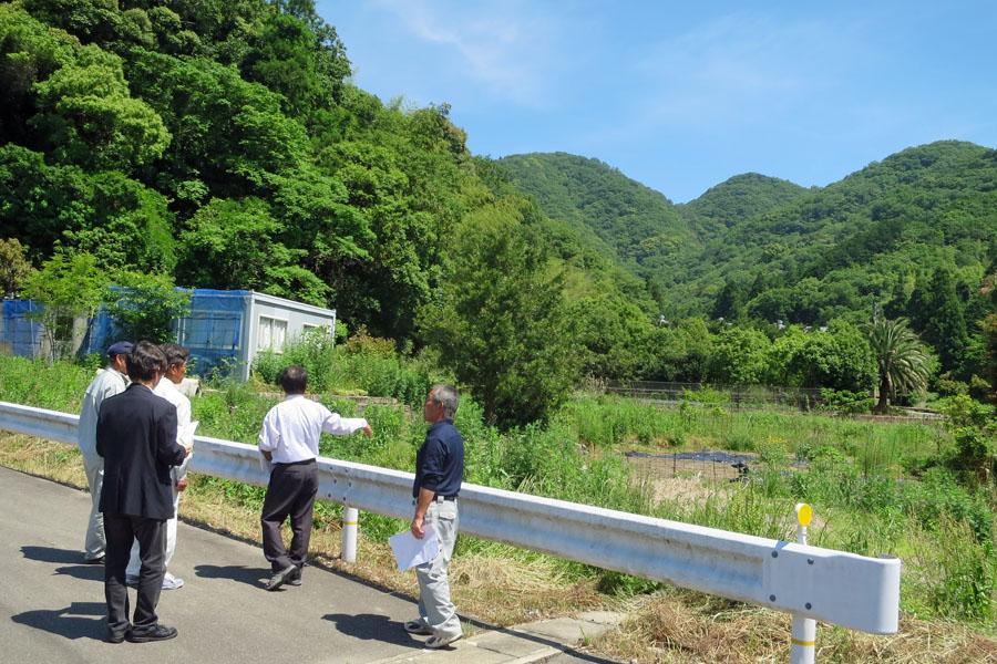 現地で打ち合わせをしました。徳島 手打ちそば遊山