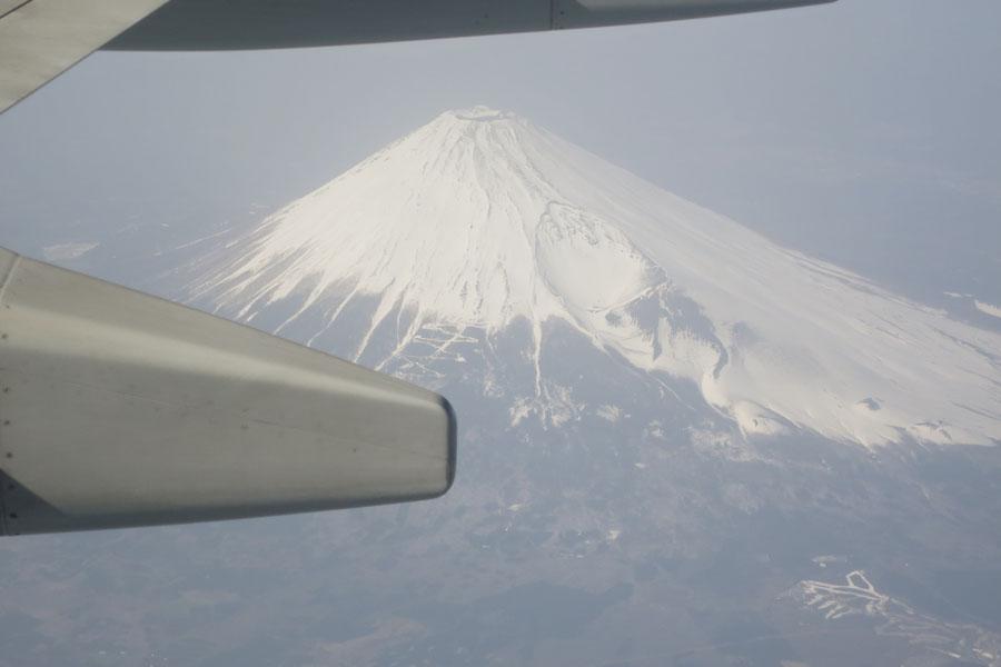 徳島への帰途の富士山
