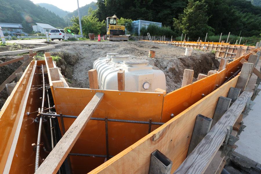徳島市 手打ちそば遊山 擁壁型枠1