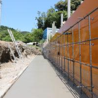 徳島市 手打ちそば遊山 擁壁工事1