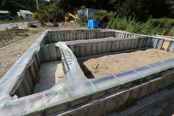 手打ちそば遊山 基礎工事 コンクリート打設2