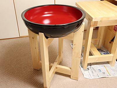 木鉢台の制作 06