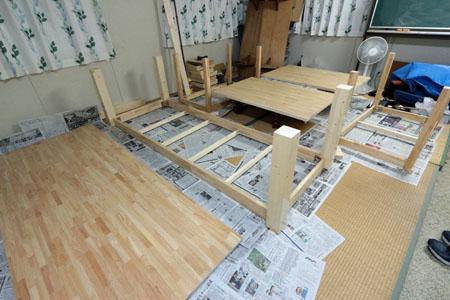 テーブルのDIY 05