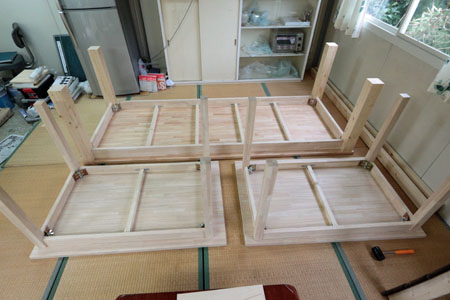 テーブルのDIY 04