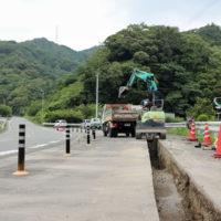 徳島市八万町 手打ちそば遊山 水道本管敷設工事
